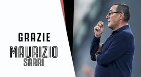 Sarri esonerato dalla Juventus. Twitter/JuventusFC