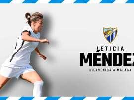 Leticia Méndez ya es del Málaga Femenino. MálagaCFFemenino