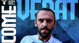 Muriqi signe à la Lazio pour 18 millions d'euros. Twitter/OfficialSSLazio