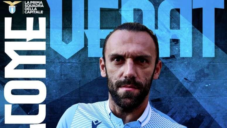 Lazio have signed Muriqi. Screenshot/Twitter/OfficialSSLazio