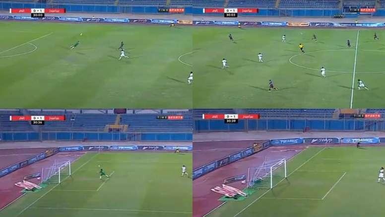 La Liga Egipcia dejó probablemente la mayor parada del año. Captura/TimeSports