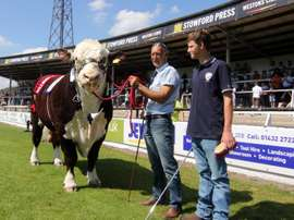 Ronaldo is the Hereford FC mascot. Twitter/Hereford FC