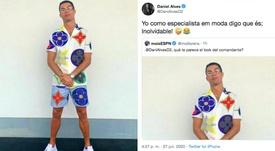 Les footballeurs se moquent du nouveau look de Cristiano.  Twitter/Cristiano - DaniAlvesD2