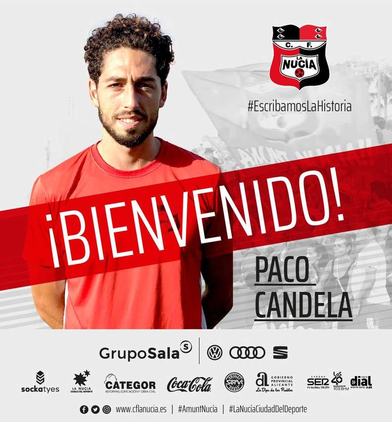 La Nucía anunció al fichaje de Paco Candela. CFLaNucía