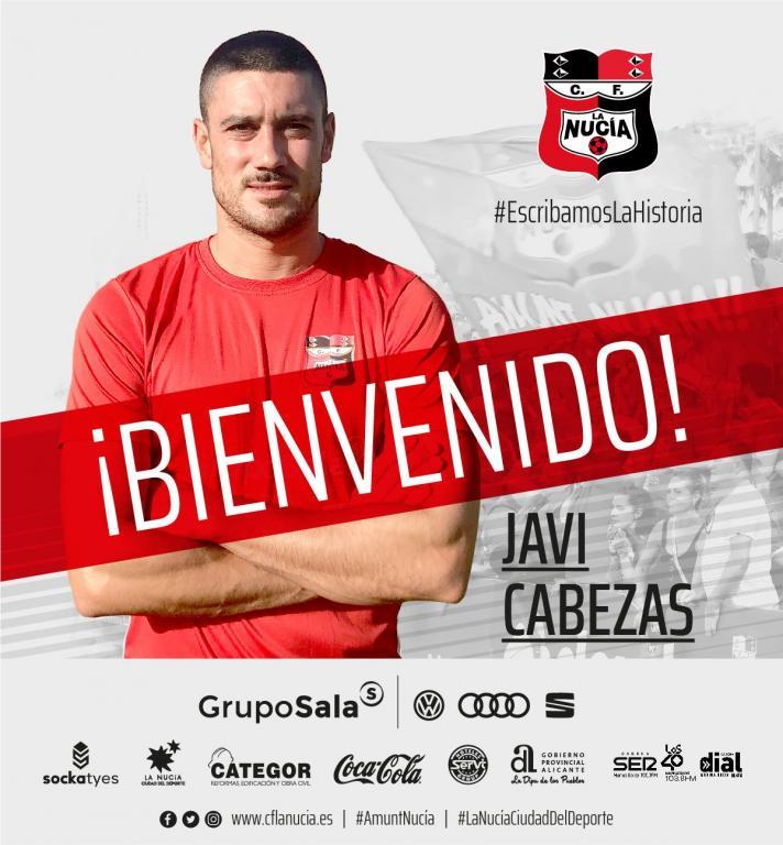 La Nucía anunció el fichaje de Javi Cabezas. CFLaNucía
