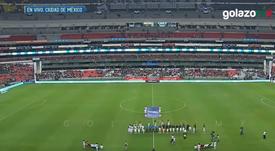 La peor entrada de la década en el Estadio Azteca. Captura/GolazoMX