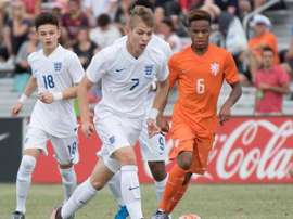 England youngster Smith Rowe netted his first senior Arsenal goal on Thursday. Twitter