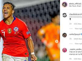 La demande importante de Claudio Bravo. Instagram/Alexisoficial