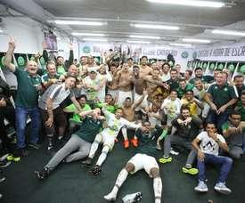 Chapecoense certificó su permanencia en la Liga Brasileña. Twitter/Chapecoense