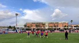 El CF La Nucía visitará el campo de la Arandina este domingo. Twitter/LaNucía