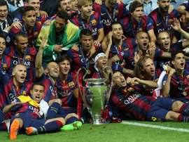 Barca won their second treble in 2015. EFE
