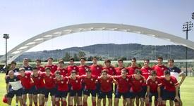 La plantilla del Bilbao Athletic al inicio de la pretemporada. Athletic-Club
