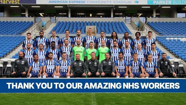 El Brighton dará 1.000 entradas a los trabajadores del HNS. Twitter/OfficialBHAFC