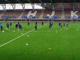 Tabe se incorporará a los entrenamientos en los próximos días. HJK
