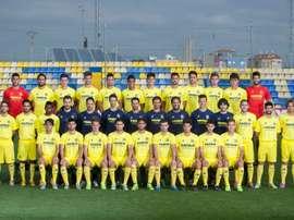 La plantilla del Villarreal 'C', al completo. VillarrealCF