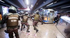 Protestos no Chile impactam o futebol. EFE
