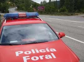 La Policía Foral tuvo que intervenir en la reyerta. Twitter