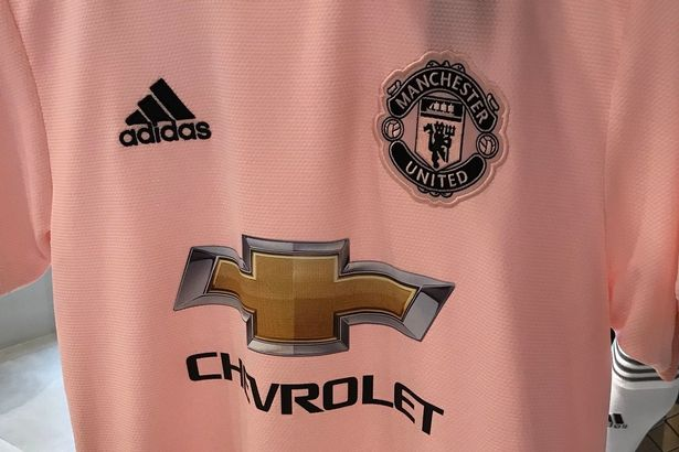 Pin United s possible new away shirt is a light pink colour. FootyHeadlines 4cb244e16