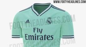 Así podría ser la tercera camiseta del Madrid. FootyHeadlines
