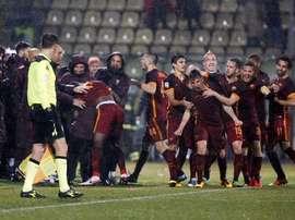 La Roma espera al Madrid con un triunfo muy valioso. Twitter
