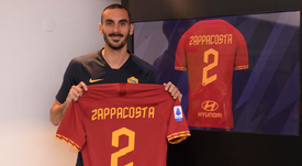 La Roma hizo oficial la llegada de Zappacosta. Twitter/OfficialASRoma