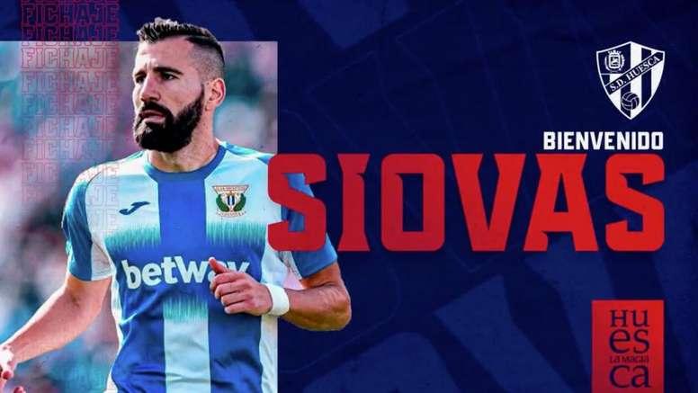 Siovas, azulgrana hasta 2022. Captura/Twitter/SDHuesca