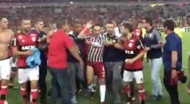 Los jugadores del Fluminense mostraron su malestar tras el partido. Captura/FoxSports