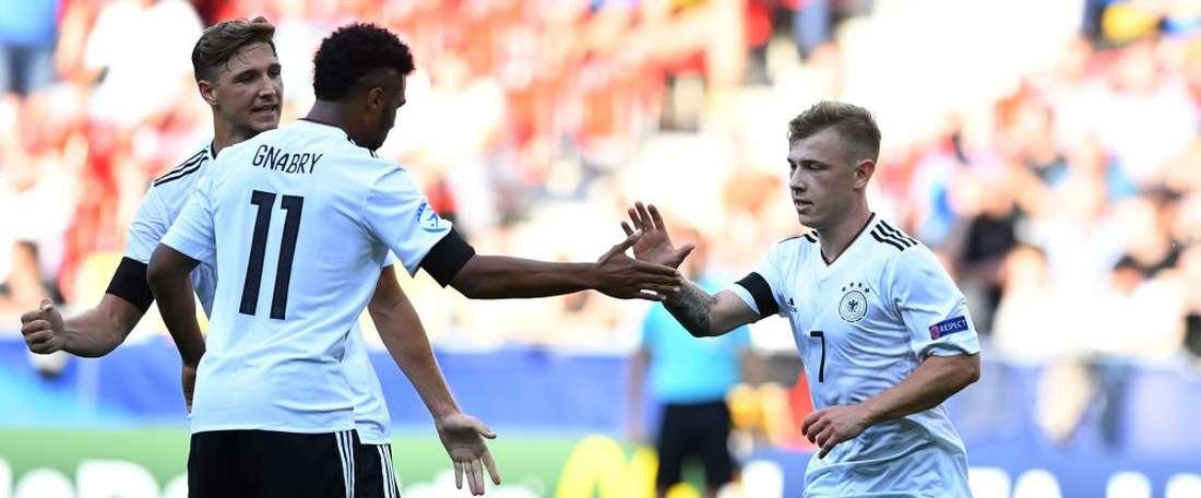 Todos os gols da Alemanha surgiram na segunda parte. Germany