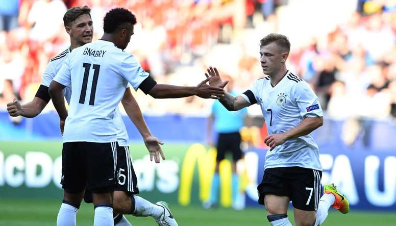 La sélection allemande U21 lors de l'Euro. Germany