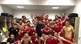 Mkhitaryan fue el héroe del partido con dos goles y una asistencia. Twitter/OfficialArmFF