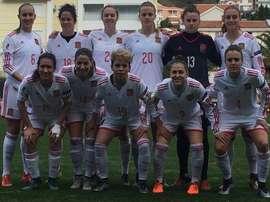 La Selección Española Femenina ganó 0-7 a Montenegro. Twitter