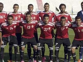 La selección nacional de Libia, entrenada por el español Javier Clemente, posa para la foto antes de un partido. Twitter