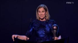 Jill Ellis, meilleure entraîneuse de l'année 2019. FIFATV