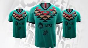 Le nouveau maillot de couleur bleu turquoise. Captura/ClubAmérica