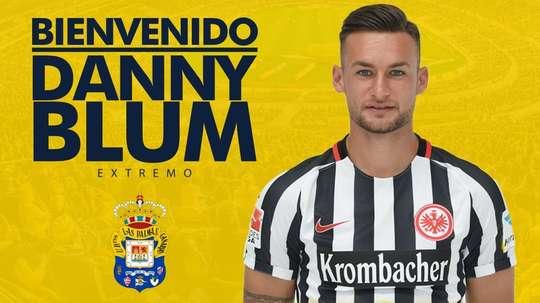 Blum llega cedido del Eintracht. Twitter/UDLP_Oficial