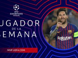 Messi o MVP da rodada. UEFA