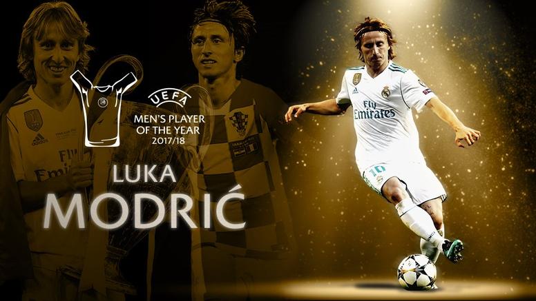 Modric se impuso a Cristiano y Salah. UEFA