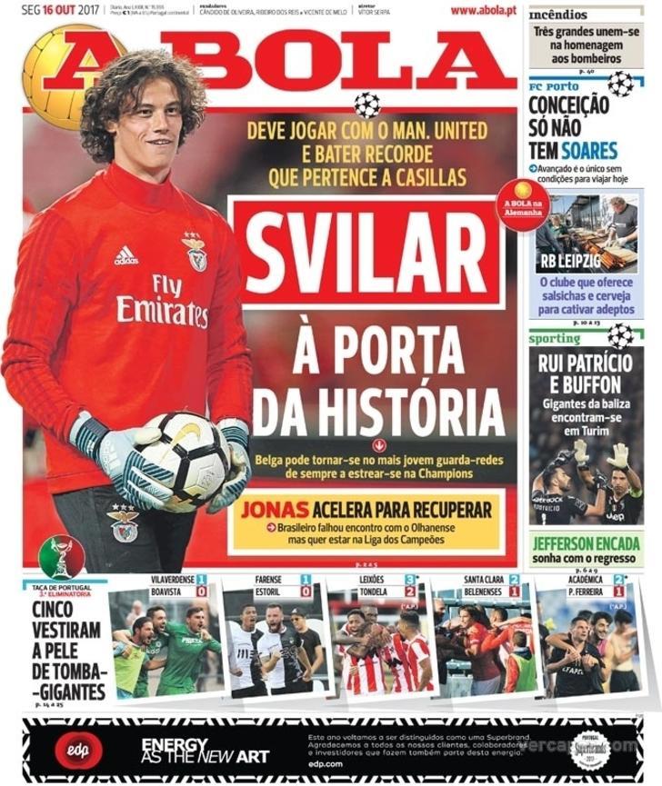 As capas da imprensa desportiva de 16 de outubro de 2017 - BeSoccer d123dc001c799