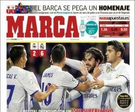 Capa do jornal 'Marca' do 27 de abril 2017. Marca