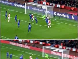 Lacazette and Koscielny were on target for Arsenal in the first half. CAPTURA