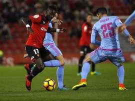 El futbolista alcanzó los 100 partidos con el Mallorca. LaLiga
