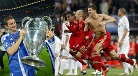 Les survivants du Bayern-Chelsea de 2012. EFE/AFP