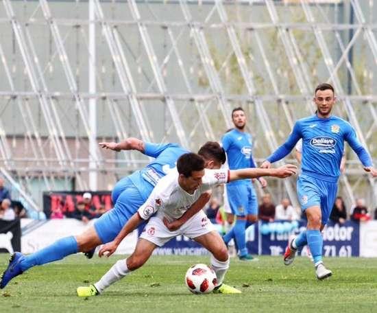 Un gol de Juanma Marrero convierte en líder al Fuenlabrada. Twitter/CyDLeonesa
