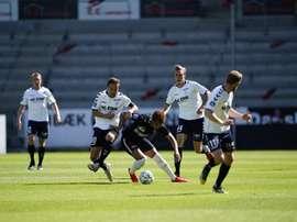 El Midtjylland cayó ante el AC Horsens, aunque no se jugaba nada. Twitter/fcmidtjylland