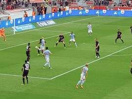 El Celta dejó buenos momentos y lagunas importantes ante el Bayer Leverkusen. Twitter