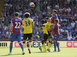 Lance del choque entre el Crystal Palace y el Aston Villa. Twitter
