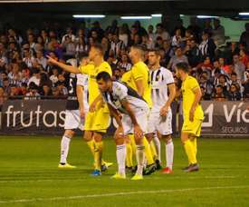 El Castellón sucumbe en el derbi ante un Villarreal B con ocho. Twitter/CD_Castellón