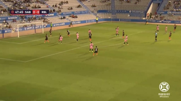 Sabadell y Linense empataron a cero y hubo reparto de puntos. Captura/Footters