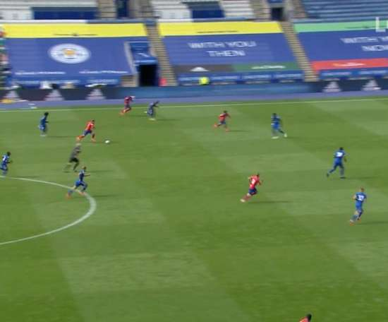 Leicester and Blackburn drew 1-1. Captura/LCFC