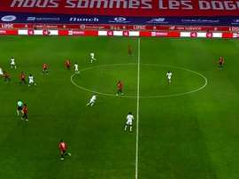 El Lille le ganó al Stade de Reims. Captura/MovistarLigadeCampeones